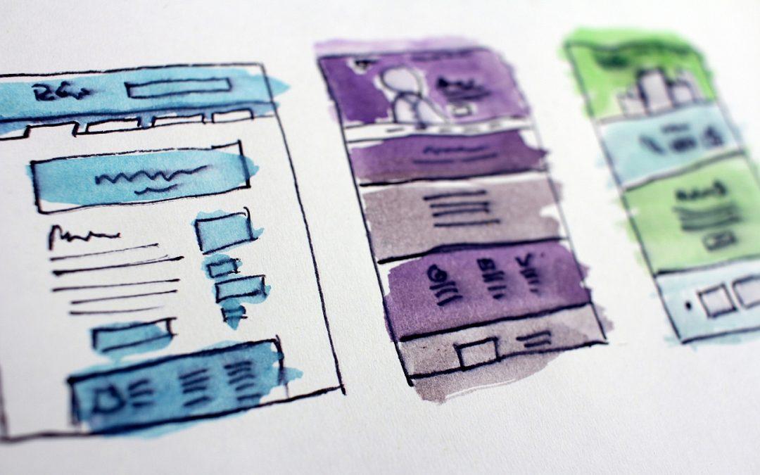 Web design planning chart